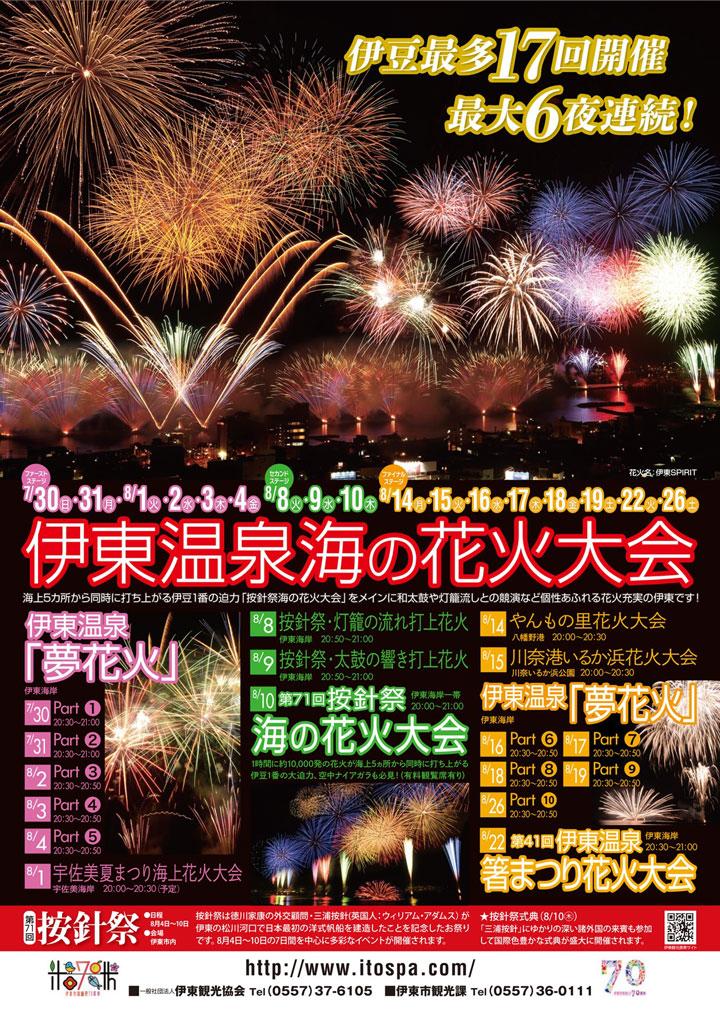 2017夏!伊東温泉海の花火大会